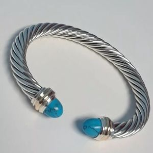 David Yurman 7mm Turquoise Bracelet
